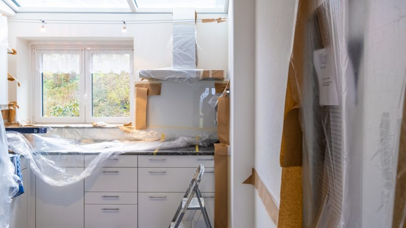 You must cover and protect all items before starting your apartment renovation