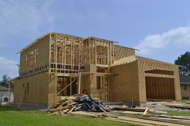 A home in construction, symbolizing ways to manage home renovations from afar.